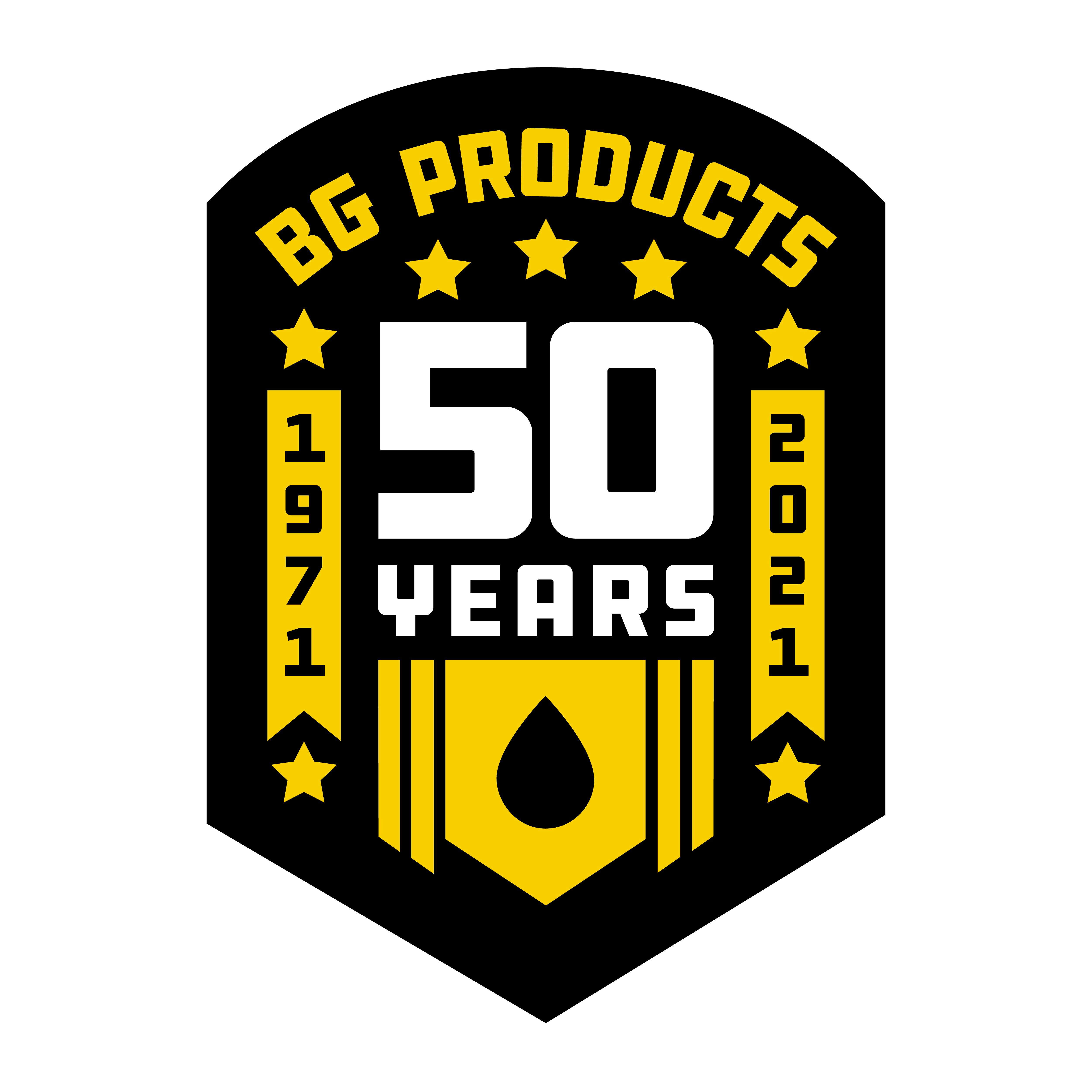 BG 50 år logo